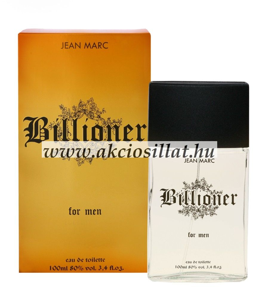 Jean Marc - Billioner for Men EDT 100ml / Paco Rabanne 1 Million