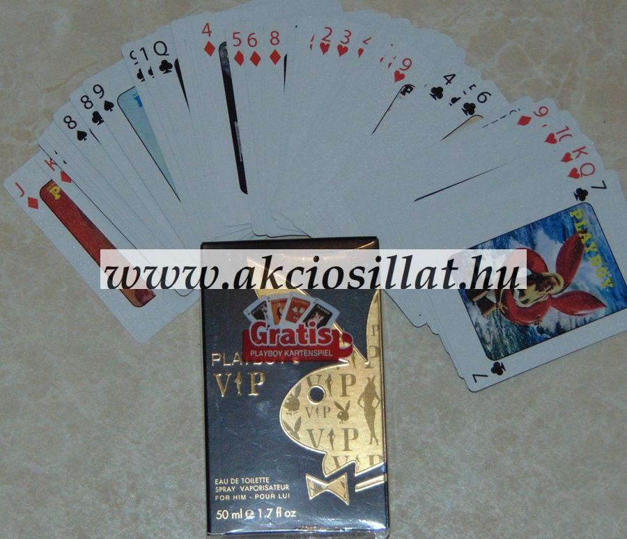 Playboy Vip for him + Póker kártya ( ajándékcsomag )
