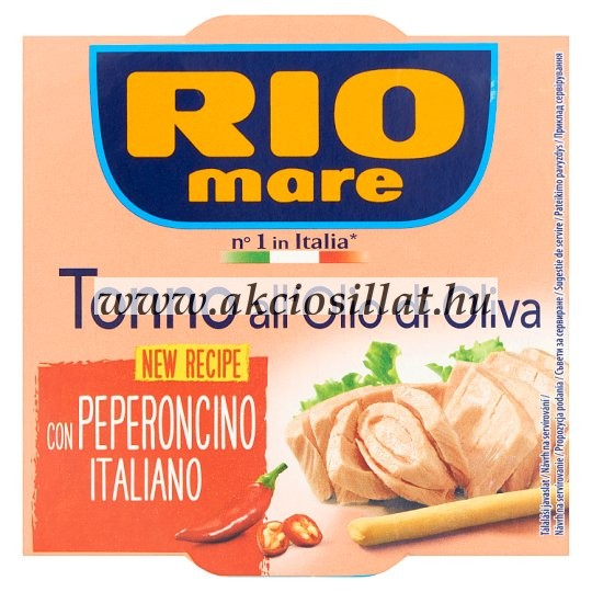 Rio Mare Tonhal Olívaolajban Chilivel 160gr