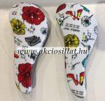 Hajkibontó Kefe Cipő - Virág 15cm