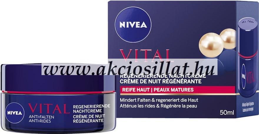Nivea Vital Ránctalanító Éjszakai Krém Kálcium & Gyöngy Kivo