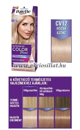 Schwarzkopf-Palette-Intensive-Color-Creme-CV12-Rozsaszoke-kremhajfestek