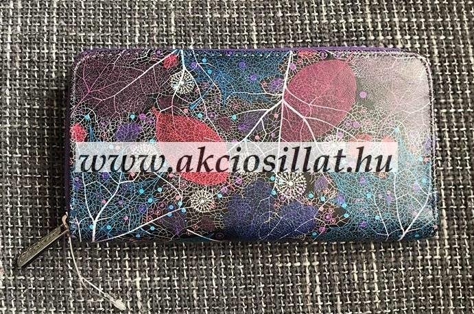 553f1f924a Női pénztárca falevél mintás lila 19x10x2cm - Olcsó parfüm webáruház ...