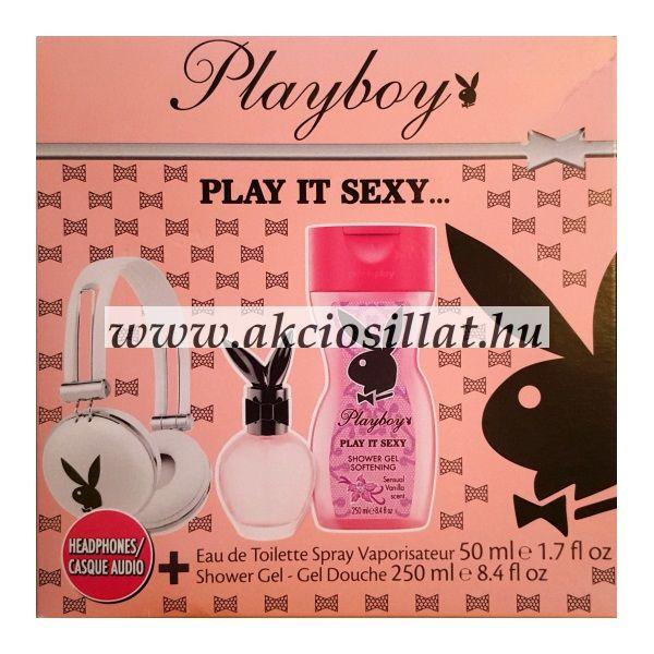Playboy Play It Sexy fejhallgatós ajándékcsomag - Olcsó parfüm ... e1eedda9e6