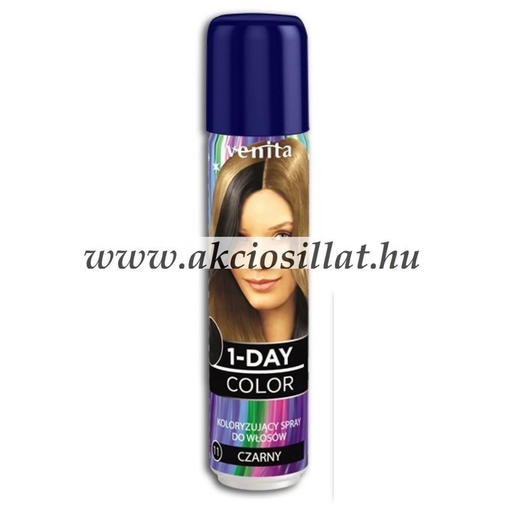 Venita 1 Day Color 1 napos kimosható ammóniamentes hajszínező spray 50ml 11  Black ce49e7f8fa