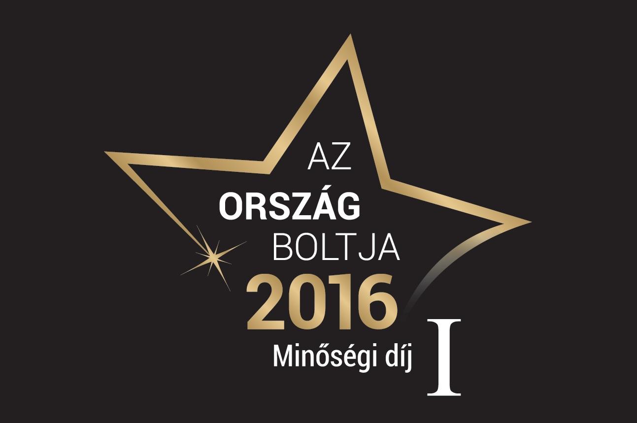 Ország Boltja 2016 Minőségi díj