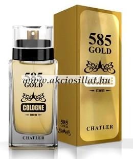 Chatler 585 Gold Cologne Men EDT 75ml / Paco Rabanne 1 Million Cologne parfüm utánzat