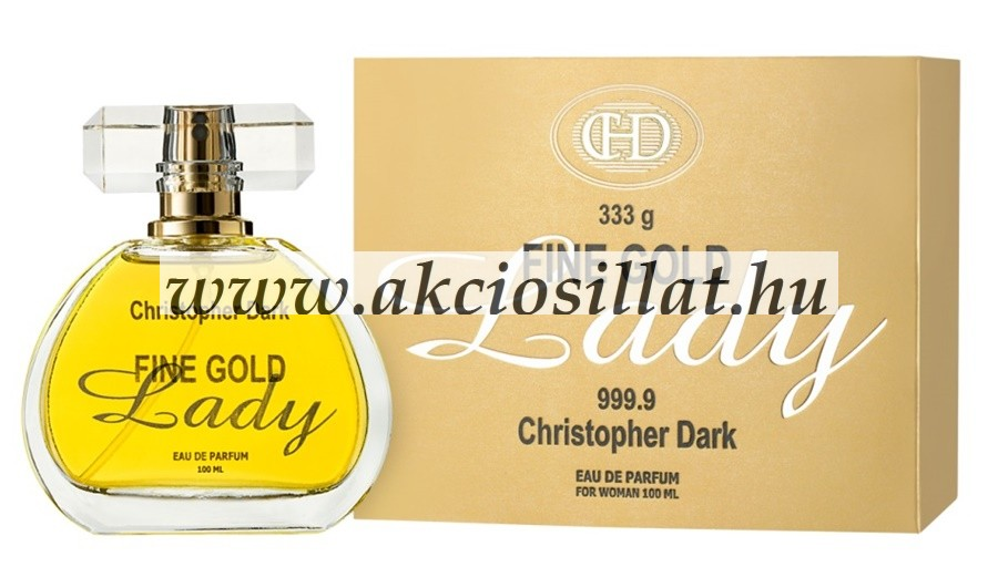 Christopher Dark Fine Gold Lady EDP 100ml / Paco Rabanne Lady Million parfüm utánzat