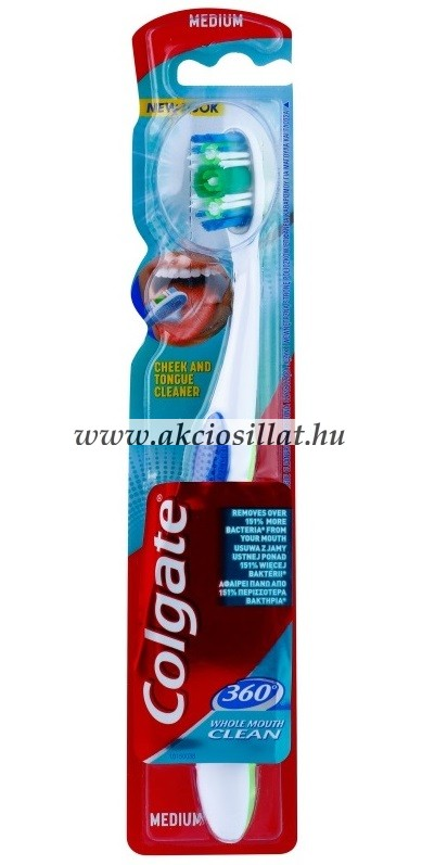 Colgate 360 Whole Mouth Clean medium fogkefe