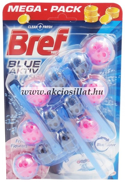 Bref Blue Aktiv Fresh Flowers WC-frissítő 3x50g
