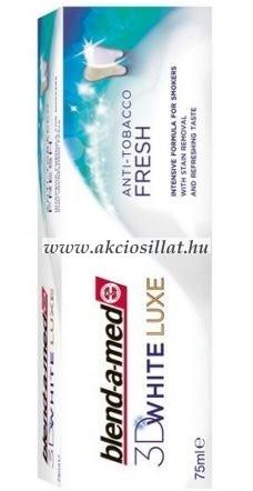 Blend-A-Med 3D White Luxe Anti Tobacco fogkrém 75ml