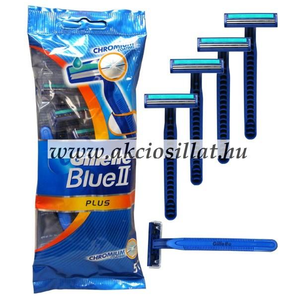 Gillette Blue II Plus eldobható borotva 5db-os