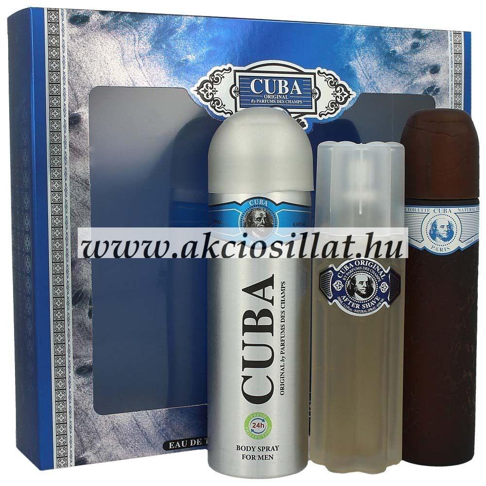 Cuba Blue ajándékcsomag (edt+aftershave+dezodor)