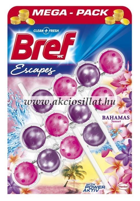 Bref Escapes Power Aktiv Bahamas Sunset WC-frissítő 3x50g