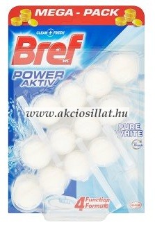 Bref Power Aktiv Pure White WC-frissítő 3x50g